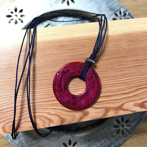 Crackle Washer Necklace