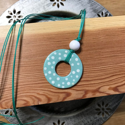 Polka Dot Washer Necklace