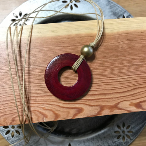 Red Washer Necklace
