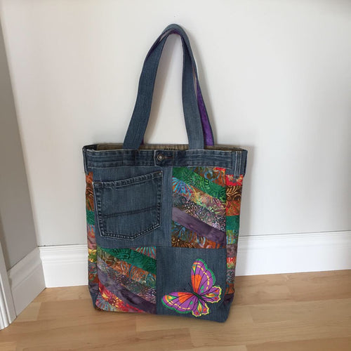 Re-Purposed Denim Tote Bag