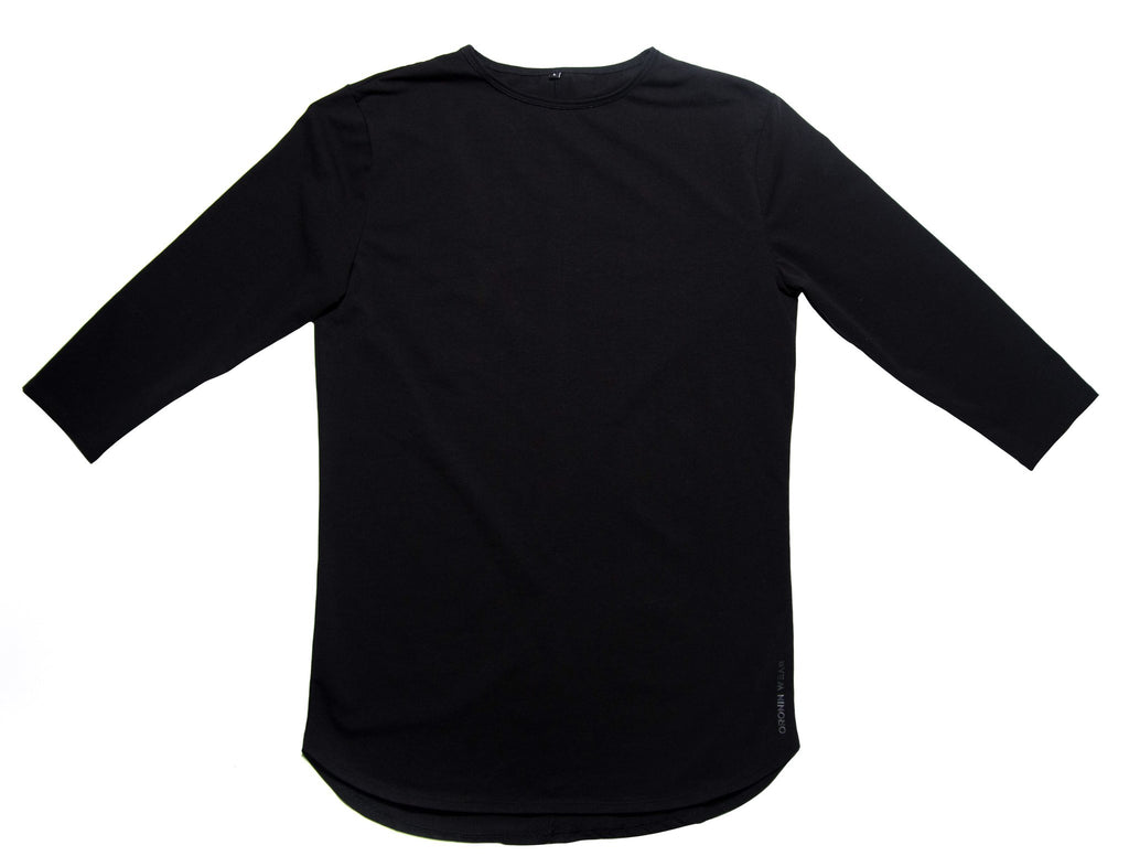 3/4 Sleeve Shirt - Black - Oronin Wear Martial Arts Athletic Apparel and Supplies