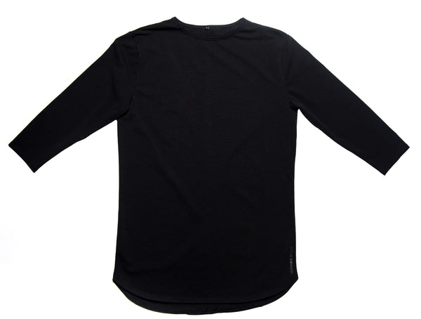 3/4 Sleeve Shirt - Black