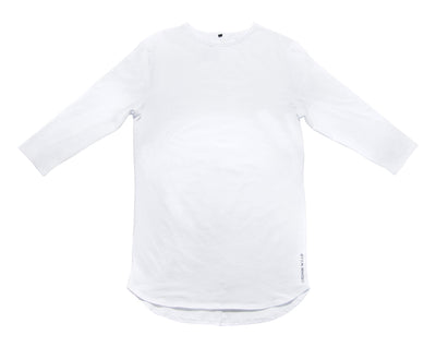 3/4 Sleeve Shirt- White - Oronin Wear Martial Arts Athletic Apparel and Supplies