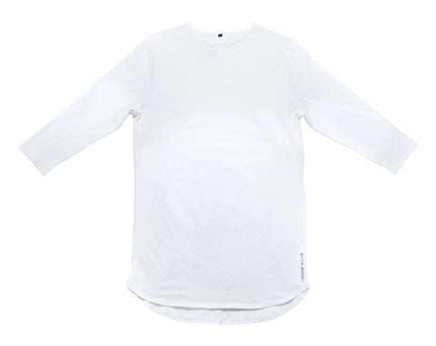 3/4 Sleeve Shirt- White