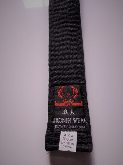Commemorative Oronin Wear Black Belt - Oronin Wear Martial Arts Athletic Apparel and Supplies