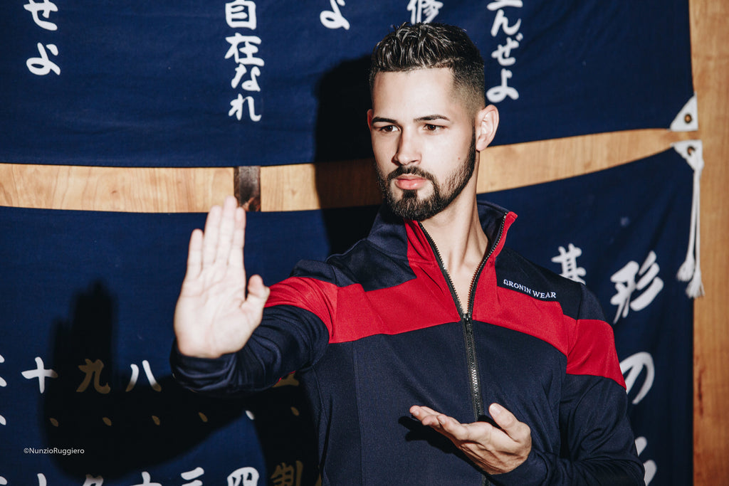Track Jacket - Navy Blue/Red