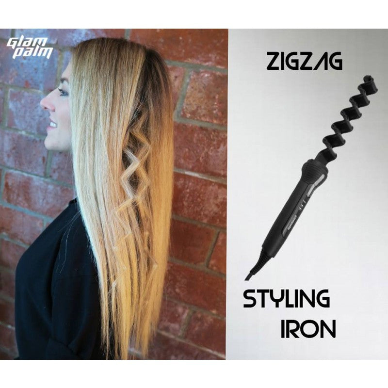 iron hair style glampalm zigzag styling iron glampalm 174 usa official 6890