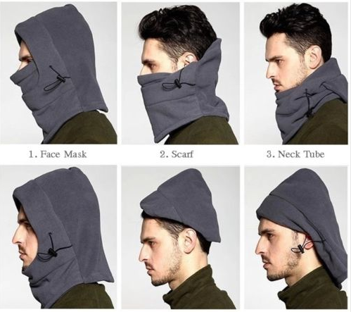 [4 in 1 Unisex thermal Fleece Snood Hood] - safariy
