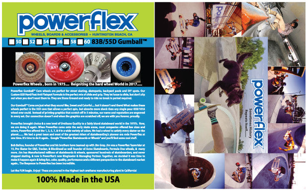 Powerflex Releases the New Gumball Core Street/Park/Pool Wheels