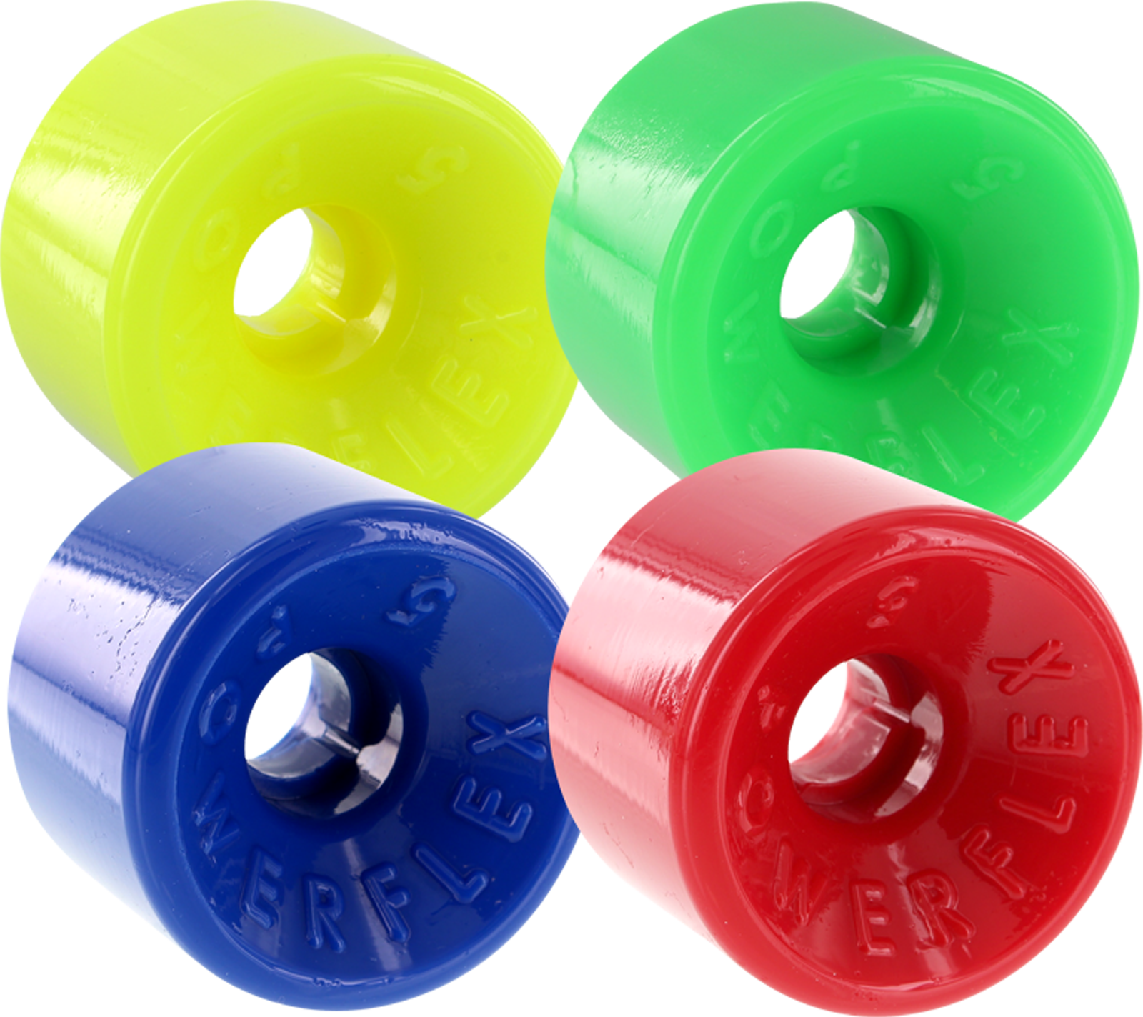 Powerflex 5 88A 63mm 4-Pack ASST 01 Yellow, Green, Blue, Red