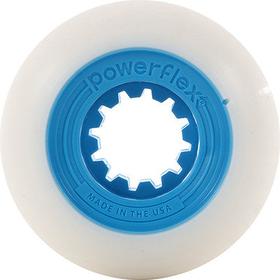 52mm Blue Gumball Core, White Wheel 83B
