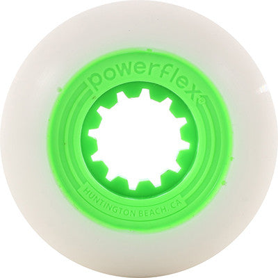 52mm Lime Gumball Core, White Wheel 83B