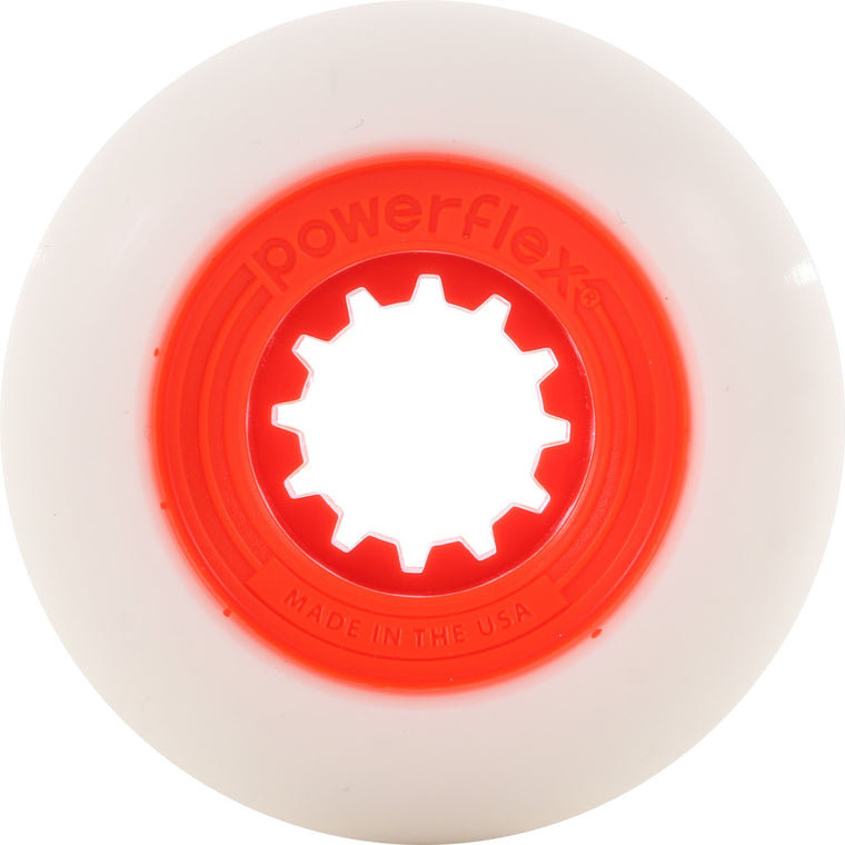 52mm Orange Gumball Core, White Wheel 83B