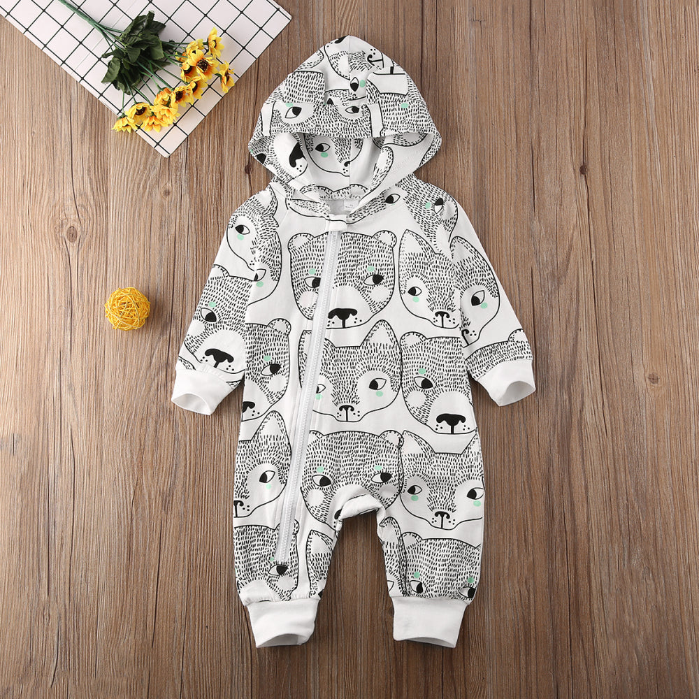 Foxy Baby Hooded Jumpsuit