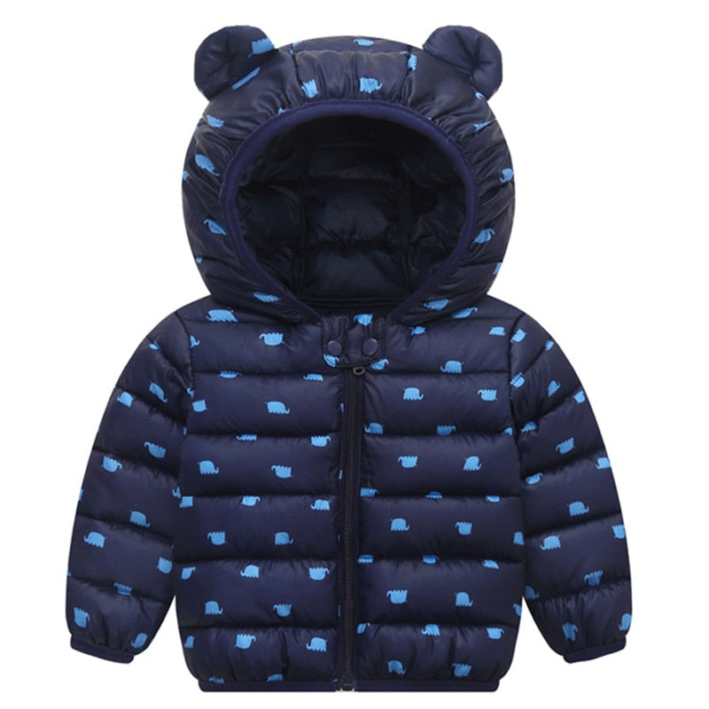 Baby Bear Puffer Coat | Navy