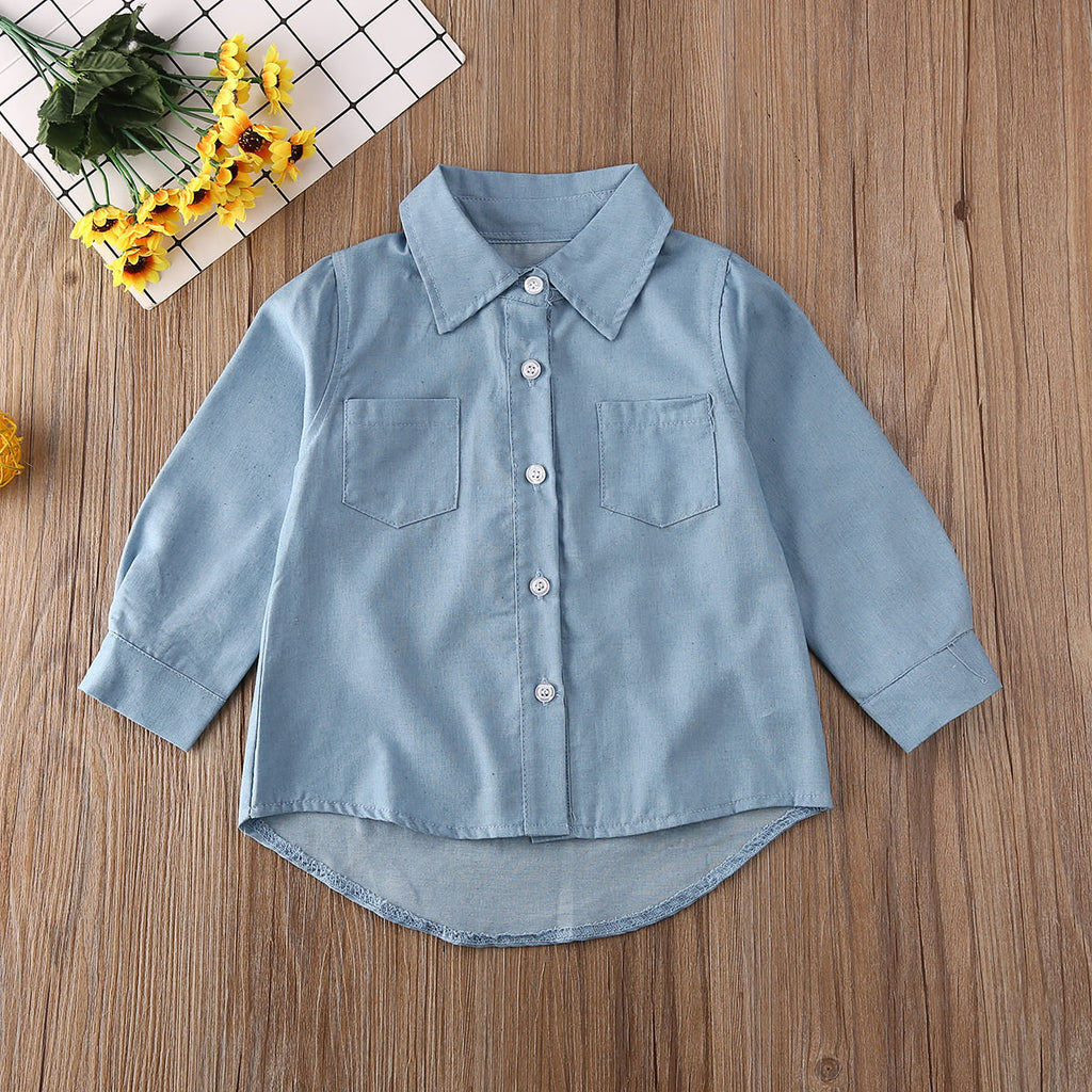Kick It With Mom Denim Shirt