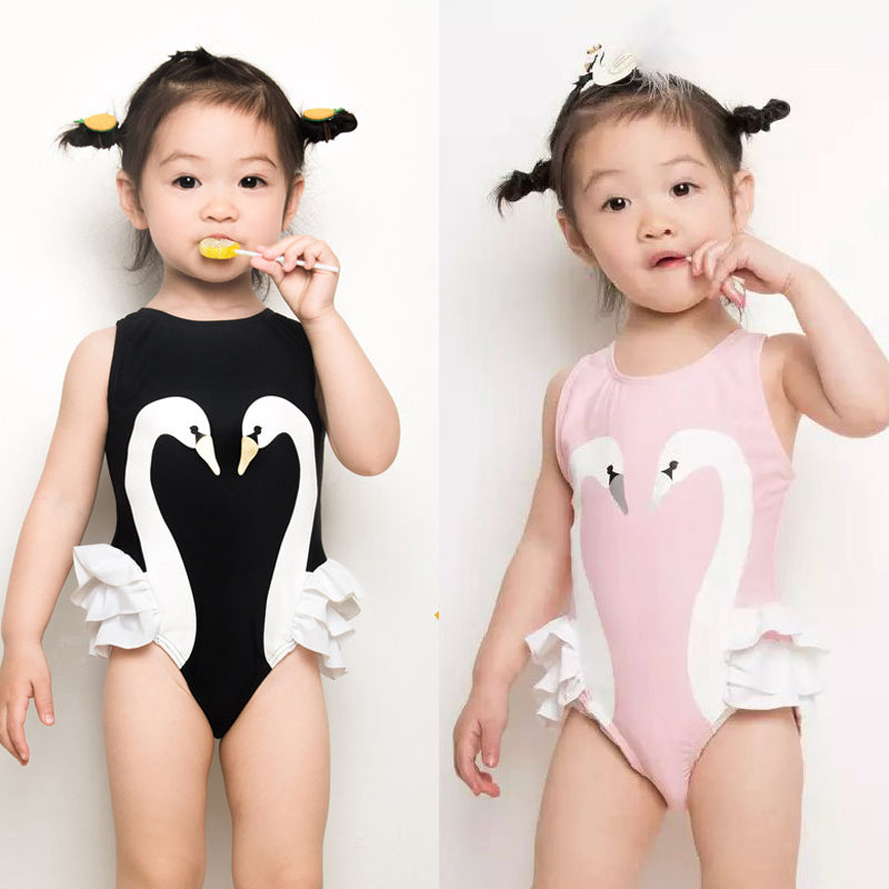 Adorable Swan Princess Swimsuit - Baby sizes
