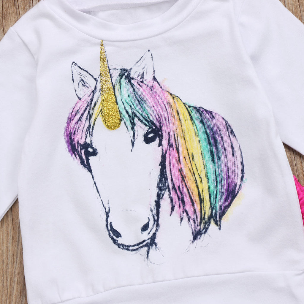 Rainbow Unicorn 3pc Outfit