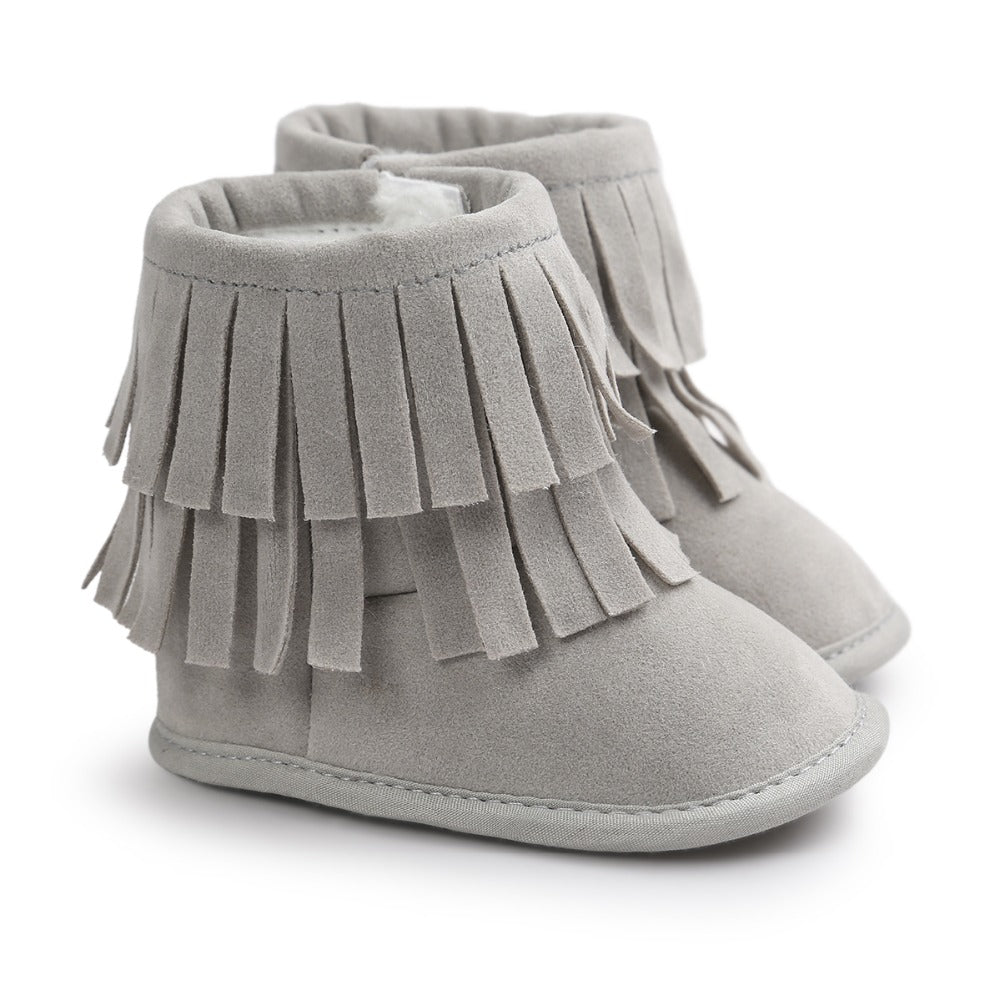 Penny Fringe Booties