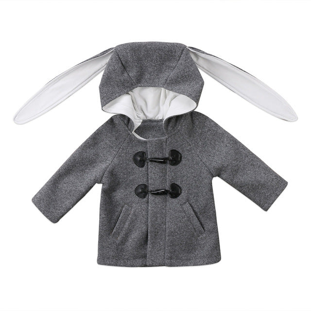 Trendy Rabbit Peacoat