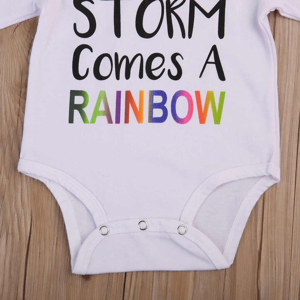 Rainbow Baby Long Sleeved Onesie