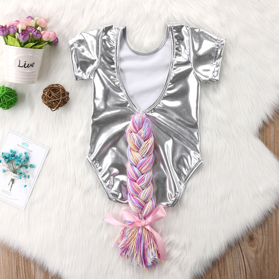 Metallic Horsetail Bodysuit