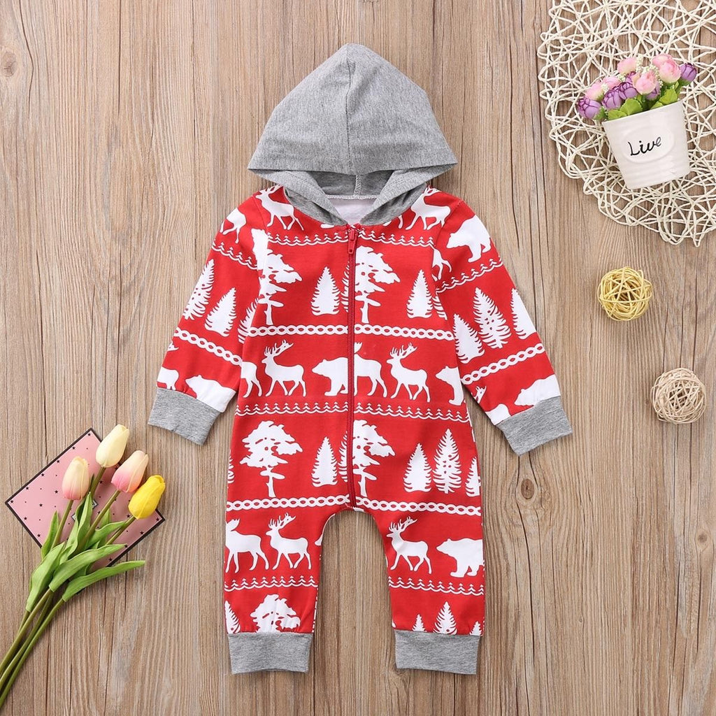 Rustic Hooded Romper
