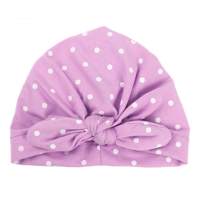 Sweet Dots Turban Cap