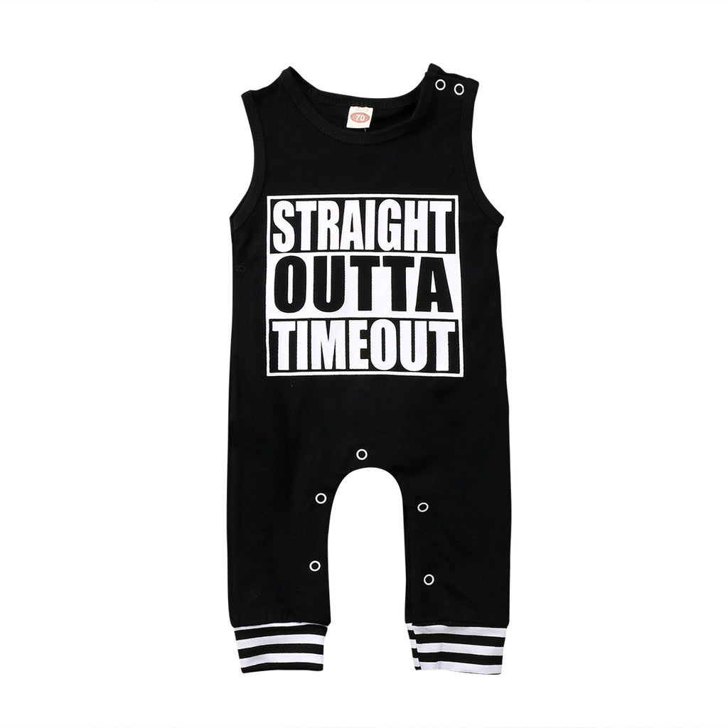 Straight Outta Timeout Romper