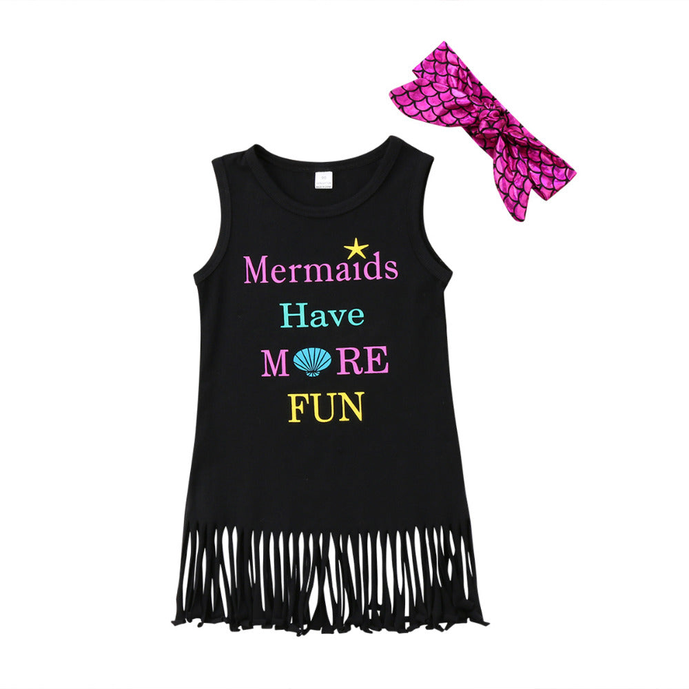 Mermaid Fringe Dress + Headband