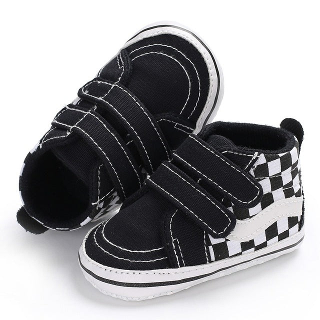 Checkerboard Velcro Cool Baby Sneakers