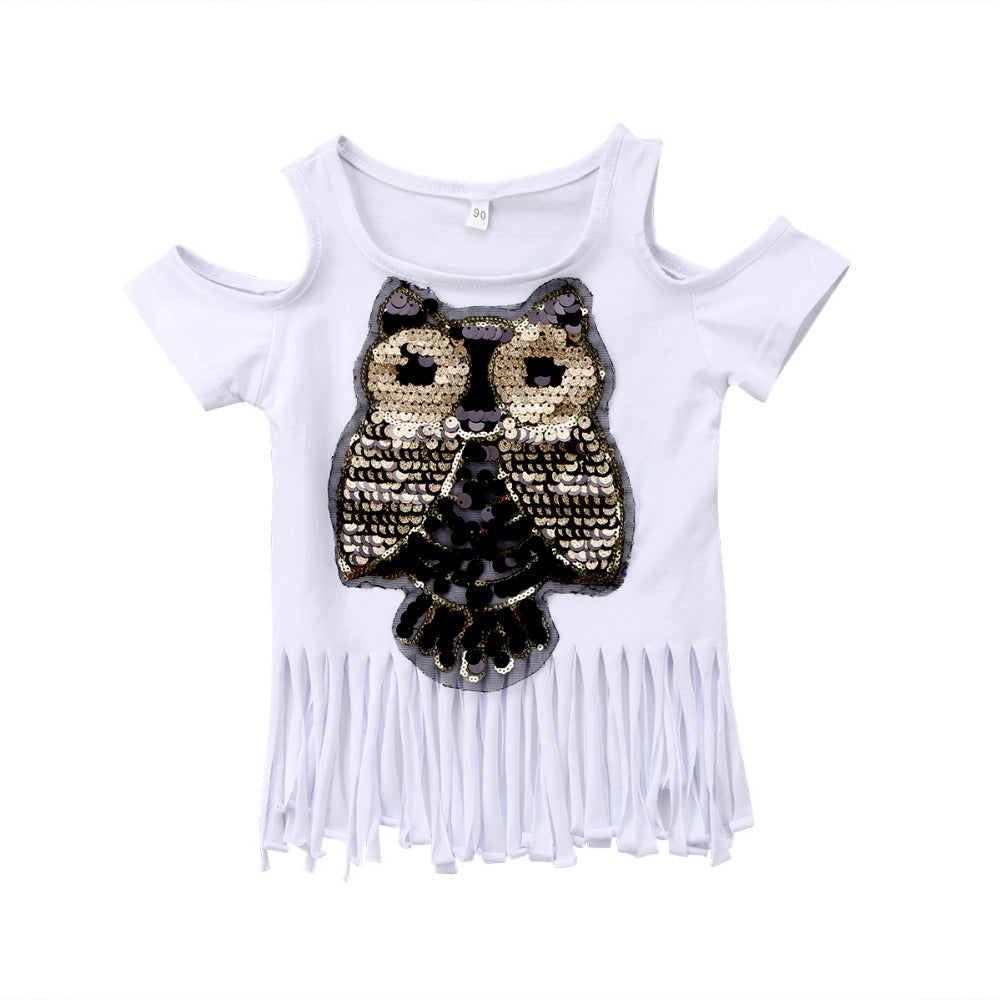 Owl Fringe Top - More Colors