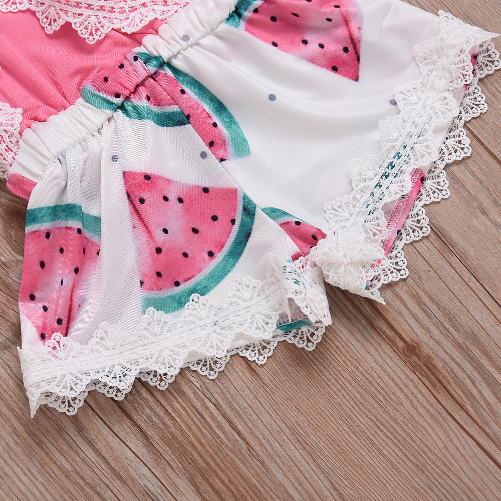 June Watermelon Romper