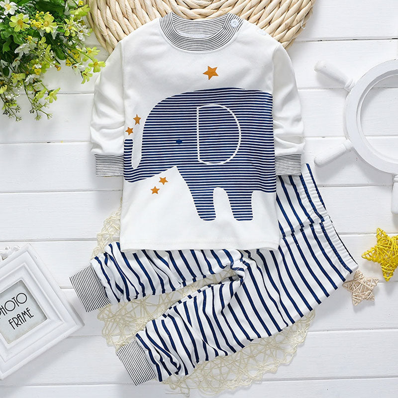 Elephant Stripe Baby Outfit