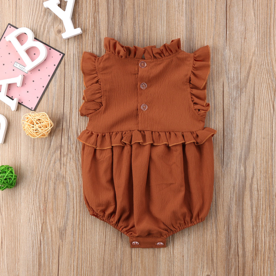 Stacy Sleeveless Ruffled Romper