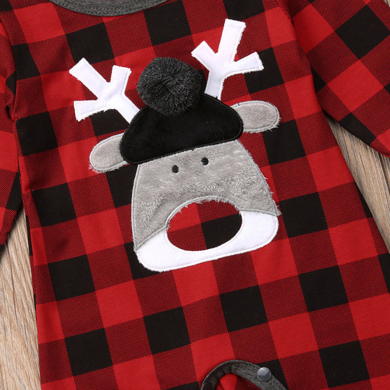 Rudolph Flannel Holiday Romper