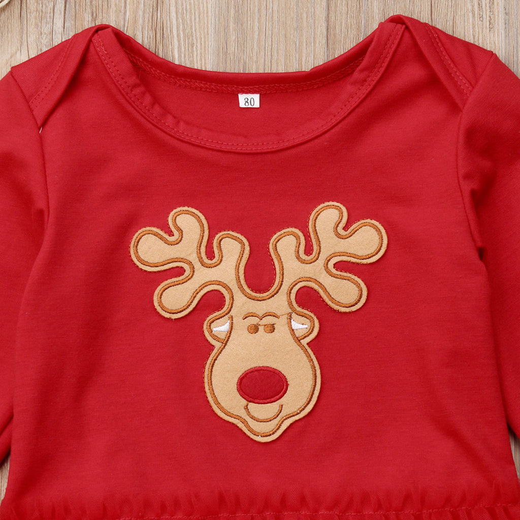 Rudolph Tutu Dress Christmas Onesie