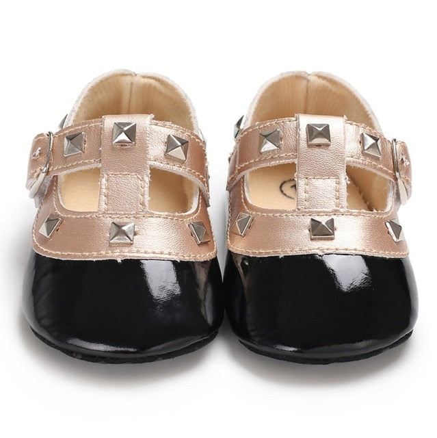 Little Miss Studded Crib Shoes