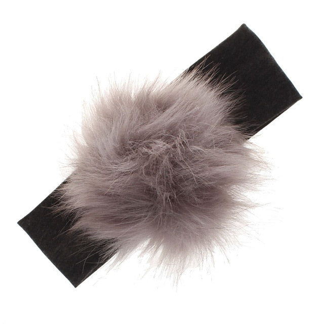 Rashiela Fluff Ball Headbands