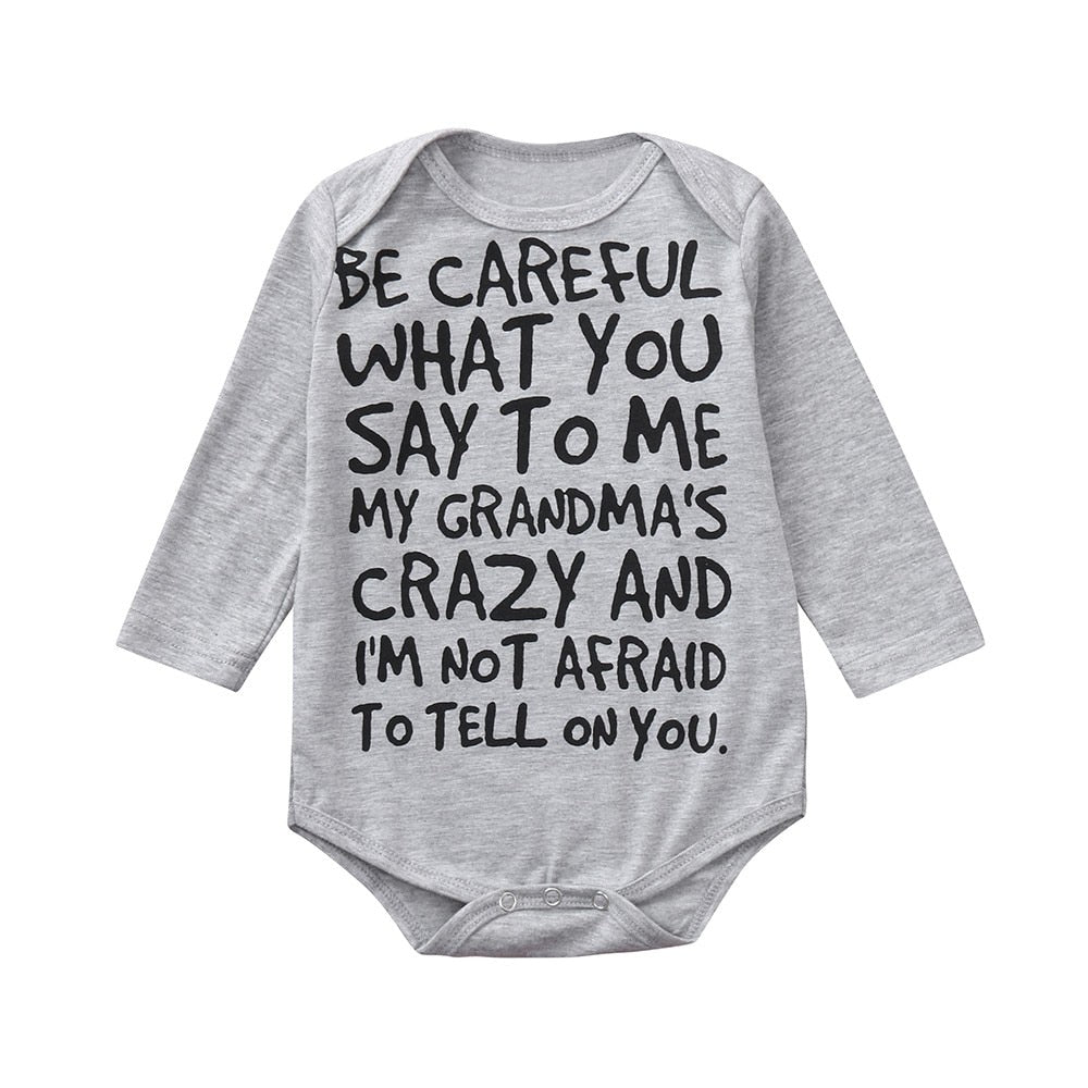 Grandma's Crazy Long Sleeved Onesie