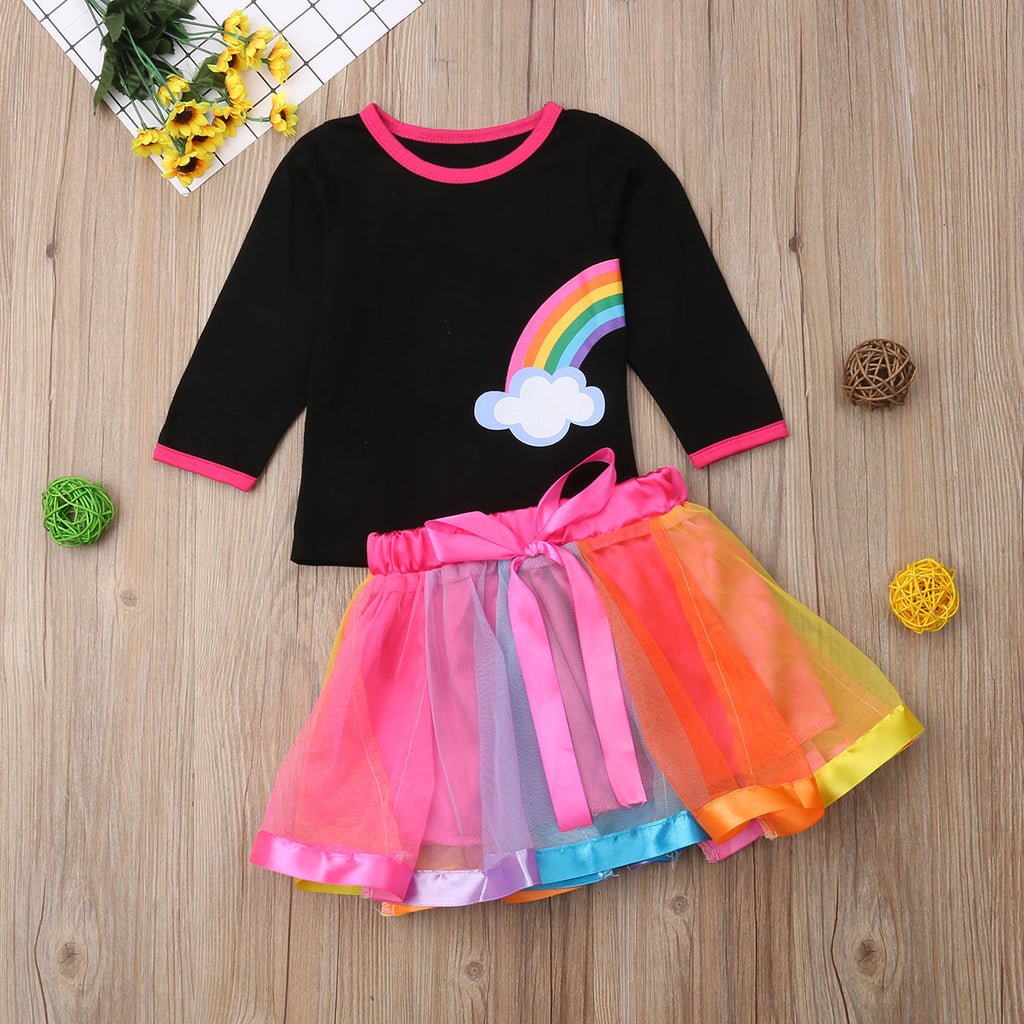 Rainbow Darlings Shirt & Skirt Set