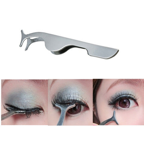 False Eyelashes Clip Extension Stainless Steel Eyelash Applicator Tweezers Tool Women Professional Beauty Makeup Cosmetic Tools