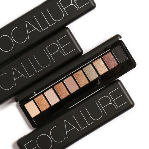 FOCALLURE Eye Shadow Makeup Shimmer Matte Eyeshadow Palette Cosmetic Makeup Set Nude Eye Shadow 10 Colors