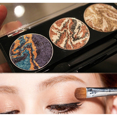 3 colors mix mineral baked eyeshadow palette planet eye shadow 2016 latest women fashion cosmetic