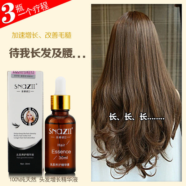 Snazii Hair Care Hair Loss Products Powerful Pilatory Fast Hair Growth Essence Liquid Restoration Thickening Fibers 30ml