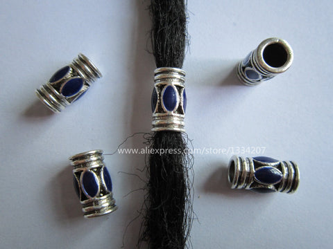 Free Shipping 6Pcs/Lot thickness hair dread dreadlock beads cuffs clips approx 4.8mm hole