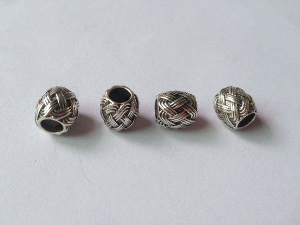 Free Shipping 20Pcs/Lot Tibetan silver braid dread dreadlock beads cuff clip approx 5mm hole NO.02