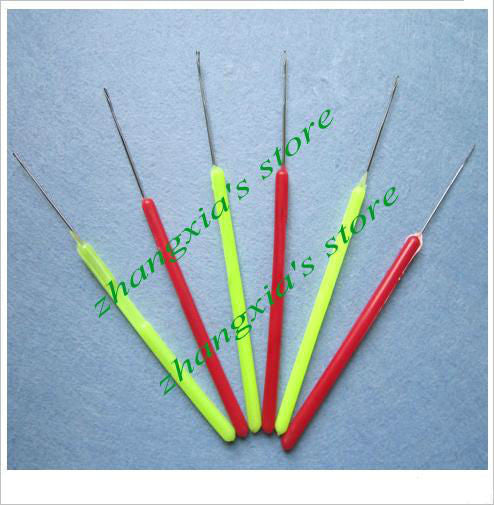 Plastic Micro Ring Needles for Loop Hair Extensions, Hair Extension Tools, 50 Items Per Lot, Red and Green Mixed  FREE SHIPPING!