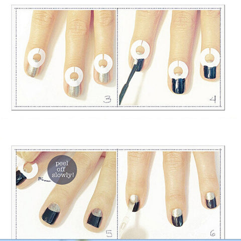New Nails Decal Rhinestones & Decorations French Manicure Nail Art Tips Tape Sticker Guide Stencil Diy Accessories