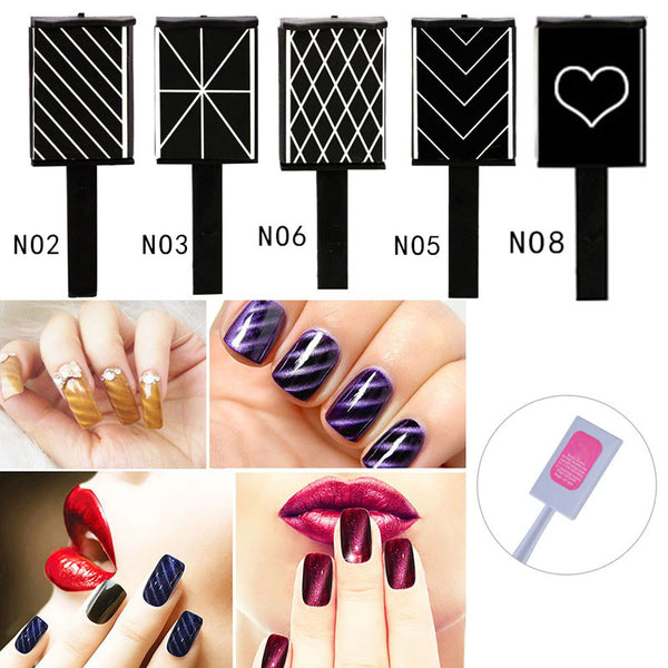 3D Magical Magnet Sticker For Cat Eye UV Gel Polish Nail Art Manicure Tool M01914